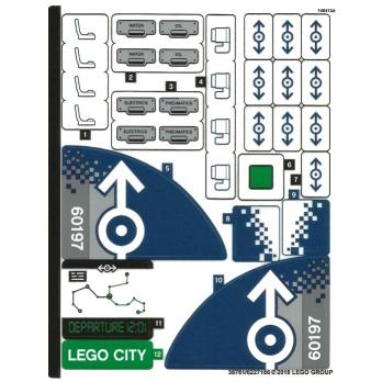 Stickers / Autocollant Lego City 60197
