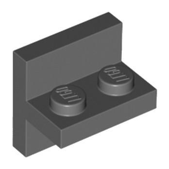 LEGO 6250018 BRIQUE 1X2X2 MILIEU - DARK STONE GREY