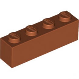 LEGO 6223040 BRIQUE 1X4 - DARK ORANGE