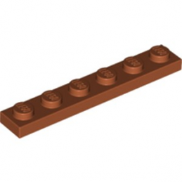 LEGO 6253418 PLATE 1X6 - DARK ORANGE