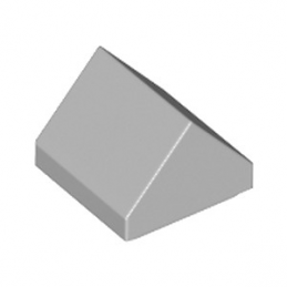 LEGO 6253436 TUILE 1X1 45° - MEDIUM STONE GREY