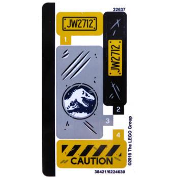 Stickers / Autocollant Lego Jurassic Worl 75926