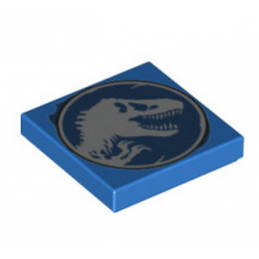 LEGO  6221852 PLAQUE IMPRIME 2X2 - JURASSIC WORLD