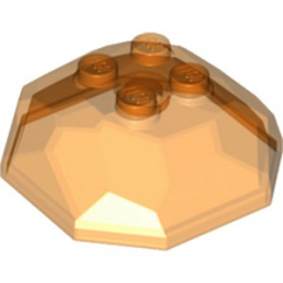 LEGO 6120911 ROCHER 4X4X1 1/3 - ORANGE TRANSPARENT