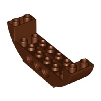 LEGO 6222970 BOW BOTTOM 2X8X2 Ø4.85  - REDDISH BROWN lego-6222970-bow-bottom-2x8x2-o485-reddish-brown ici :