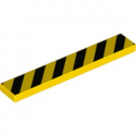 LEGO 6223853 PLAQUE IMPRIME SIGNALISATION 1X6 - JAUNE/NOIR