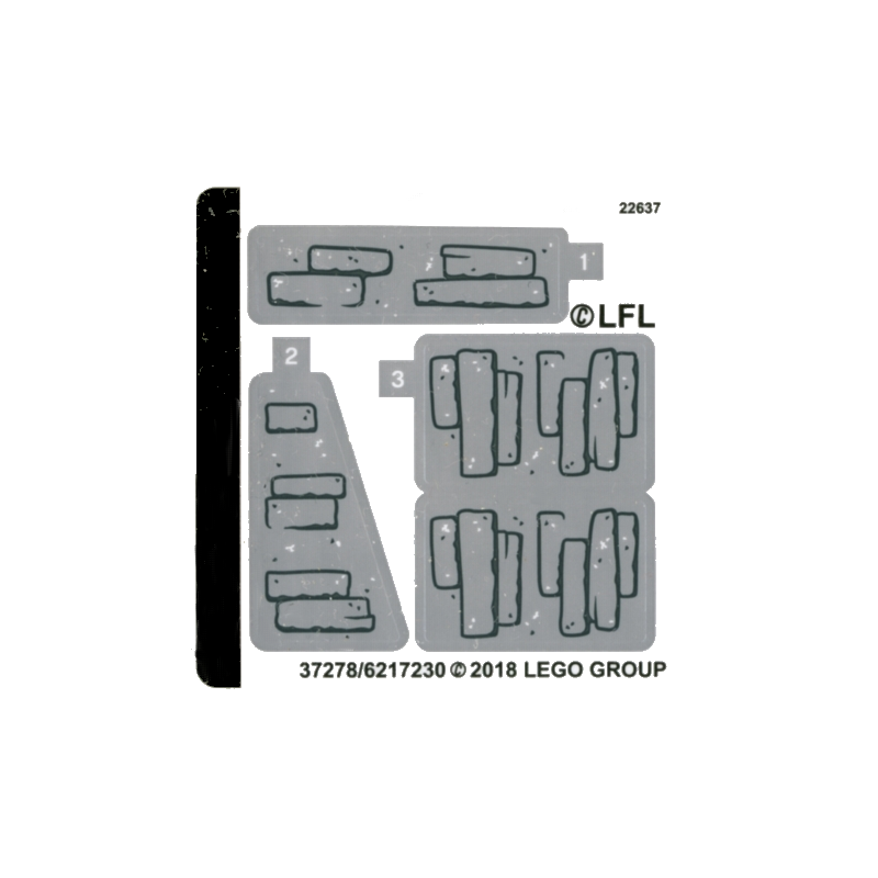 Stickers / Autocollant Lego Star wars 75200