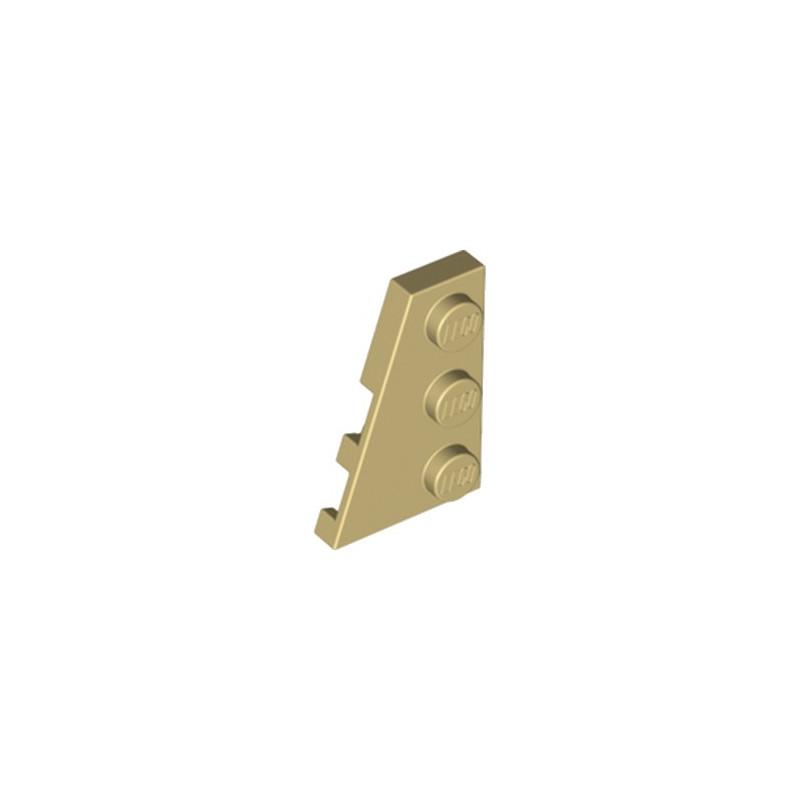LEGO 6228984 PLATE 2X3 ANGLE GAUCHE - BEIGE