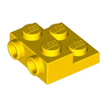 LEGO 6248833 PLATE 2X2X2/3 W. 2. HOR. KNOB - JAUNE