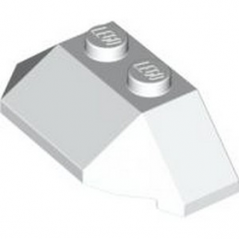 LEGO 4622545 ROOF TILE 4X2 W. ANGL./SL.BOT. - BLANC