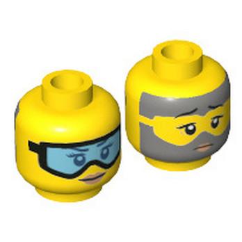 LEGO 6267989 TÊTE  FEMME ( 2 FACES )