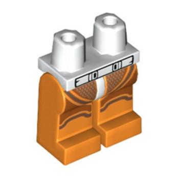 LEGO 6265561 JAMBE IMPRIME  - ORANGE / BLANC lego-6265561-jambe-imprime-orange-blanc ici :