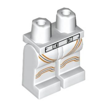 LEGO 6264146 JAMBE IMPRIME  - BLANC / ORANGE  lego-6264146-jambe-imprime-blanc-orange- ici :