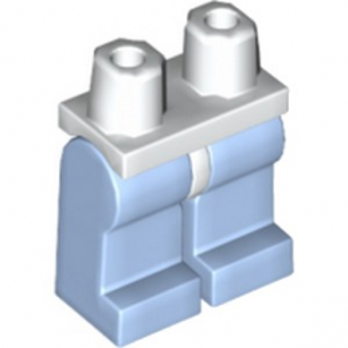 LEGO 6268024 JAMBE BICOLORE - LIGHT ROYAL BLUE / BLANC