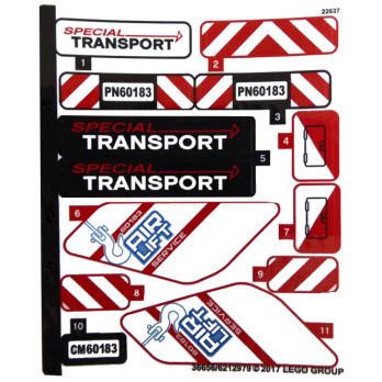 Stickers / Autocollant Lego City 60183