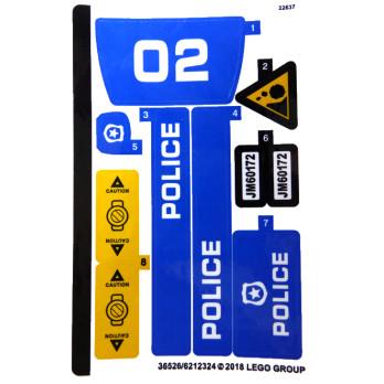 Stickers / Autocollant Lego City 60172