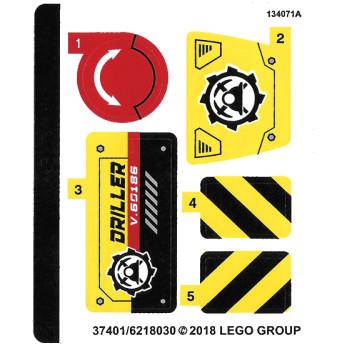 Stickers / Autocollant Lego City 60186