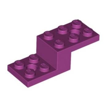 LEGO 6261654 STONE 1X2X1 1/3 W. 2 PLATES 2X2 - MAGENTA