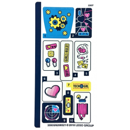 Stickers / Autocollant Lego  Friends - 41333 stickers-autocollant-lego-friends-41333 ici :