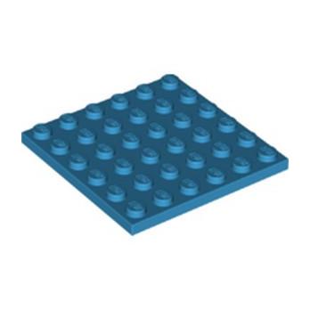 LEGO 6211361 PLATE 6X6 - DARK AZUR