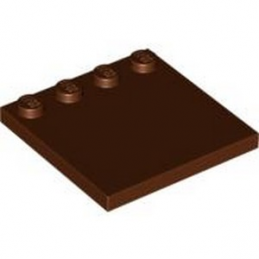 LEGO 4255859 PLATE 4X4 W. 4 KNOBS - REDDISH BROWN