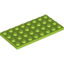 LEGO 6172819 PLATE 4X8 - BRIGHT YELLOWISH GREEN