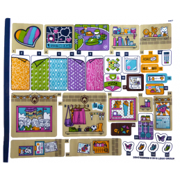 Stickers / Autocollant Lego  Friends - 41340