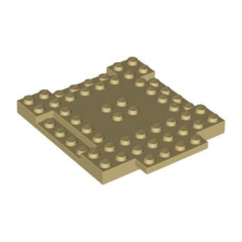 LEGO 6223192 PLAQUE 8X8X6 - BEIGE