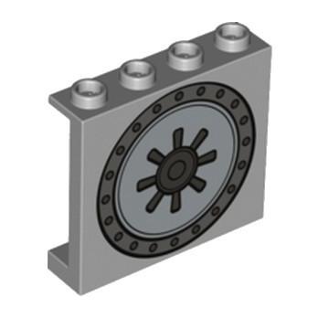 LEGO 6223055 MUR / CLOISON 1X4X3 - MEDIUM STONE GREY IMPRIME