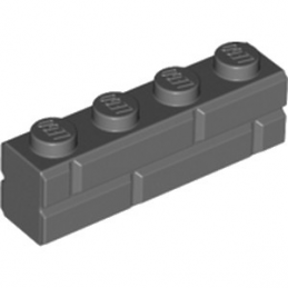 LEGO 6055310 BRIQUE 1X4 - DARK STONE GREY