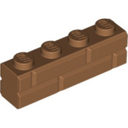 LEGO 6055309 BRIQUE 1X4 - MEDIUM NOUGAT