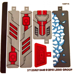 Stickers / Autocollant Lego Dc  Super Heroes 76098