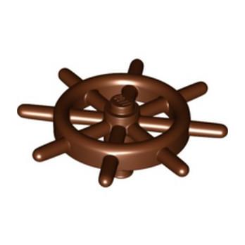 LEGO 6278548 FABULAND SHIP WHEEL - REDDISH BROWN lego-6278548-fabuland-ship-wheel-reddish-brown ici :