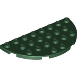 LEGO 6219683 1/2 ROND PLAT 4X8 - EARTH GREEN