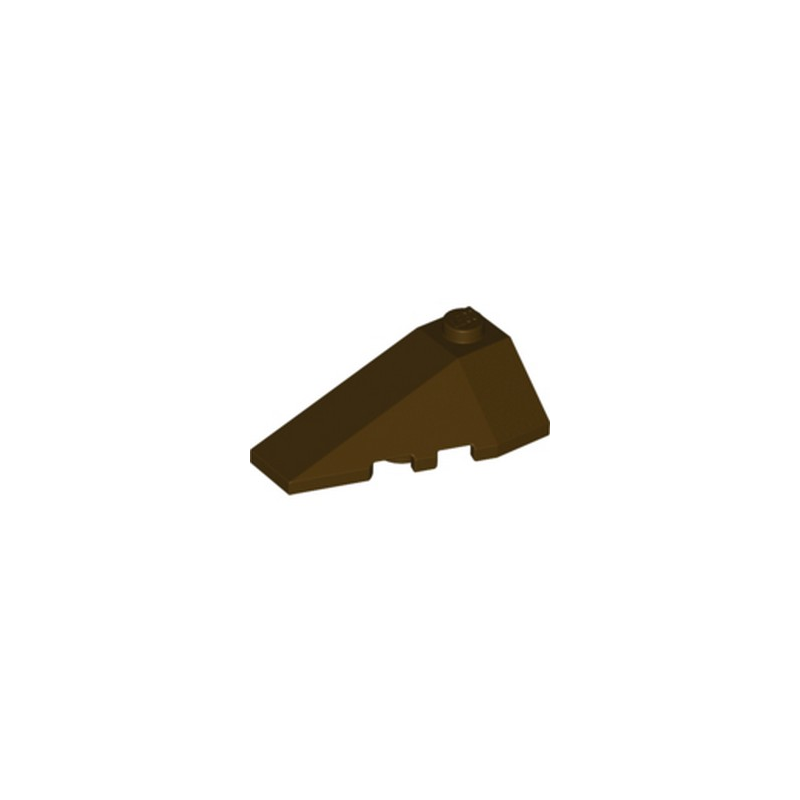 LEGO 6258948 LEFT ROOF TILE 2X4 W/ANGLE - DARK BROWN