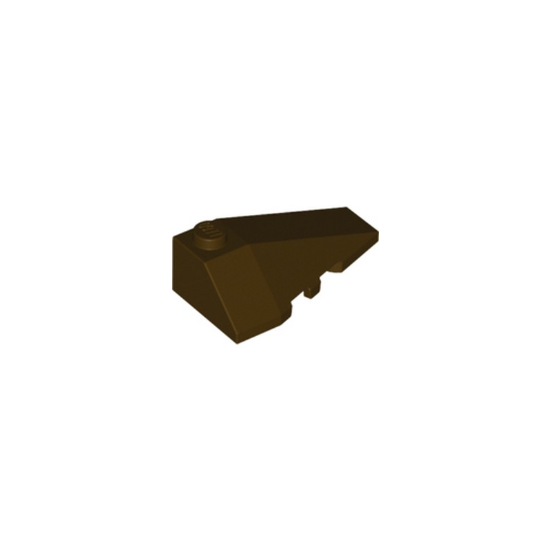 LEGO 6258944 RIGHT ROOF TILE 2X4 W/ANGLE - DARK BROWN