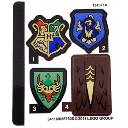 Stickers / Autocollant Lego Harry Potter 75946