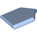 LEGO 6285269 FLAT TILE2X3 W/ANGLE  - LIGHT ROYAL BLUE
