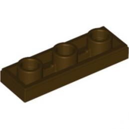 LEGO 6272145 PLATE LISSE 1X3 INV - DARK BROWN