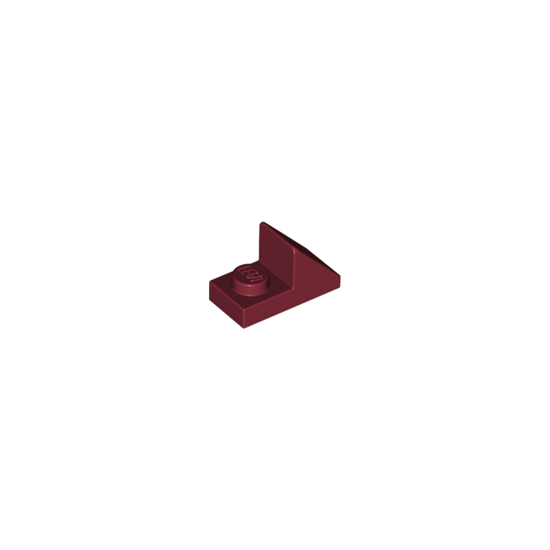LEGO 6251611 TUILE 1X2 45° W 1/3 PLATE - NEW DARK RED