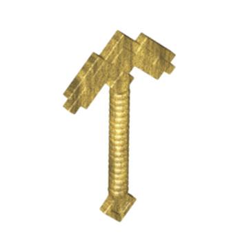 LEGO 6189234 ARME MINECRAFT PICKAXE - WARM GOLD