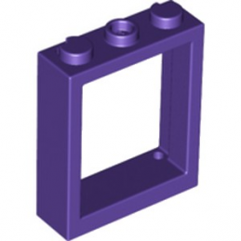 LEGO 6278709 FENETRE 1X3X3 - MEDIUM LILAC