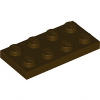 LEGO 6226792 PLATE 2X4 - DARK BROWN lego-6226792-plate-2x4-dark-brown ici :