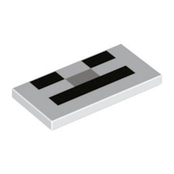 LEGO 6253168 IMPRIME MINECRAFT 2X4 - VISAGE SQUELETTE lego-6253168-imprime-minecraft-2x4-visage-squelette ici :