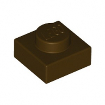 LEGO 6194729 PLATE 1X1 - DARK BROWN lego-6194729-plate-1x1-dark-brown ici :