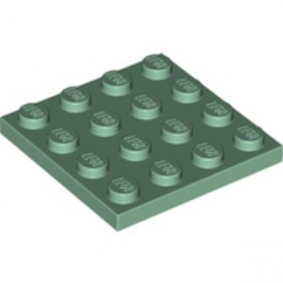 LEGO 6227073 PLATE 4X4 - SAND GREEN