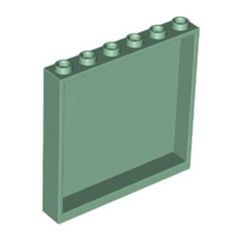 LEGO 6254117 MUR / CLOISON 1X6X5 - SAND GREEN