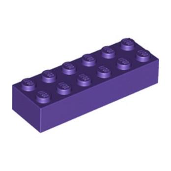 LEGO 6147004 BRIQUE 2X6 - MEDIUM LILAC