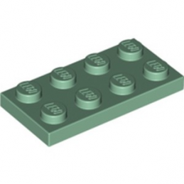 LEGO 6249817 PLATE 2X4 - SAND GREEN