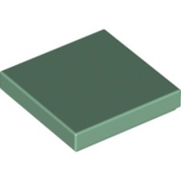 LEGO 6133896 PLATE LISSE  2X2 - SAND GREEN